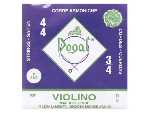 Dogal Green Violin String D - Full Size