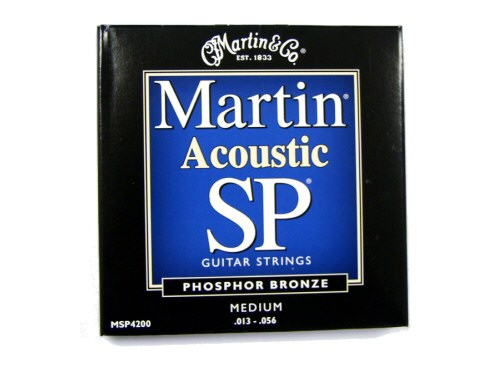 Martin MSP4200 Phosphor Bronze Acoustic Guitar Strings Medium