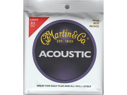 Martin M140 Bronze Acoustic Guitar Strings Light