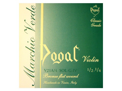 Dogal Green Violin String G 1/2-1/4 Size