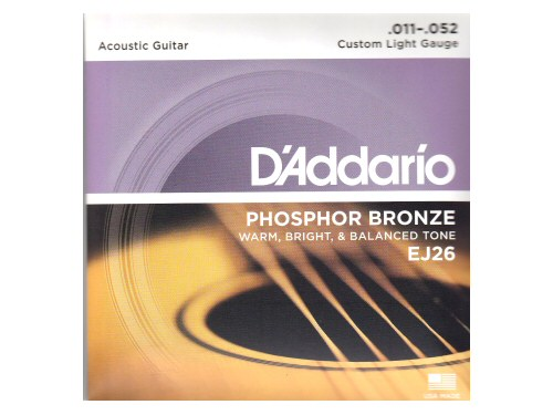 DAddario EJ26 Phosphor Bronze Custom Light Set