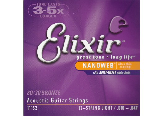 Elixir Nanoweb 12-String Light Acoustic Guitar String Set