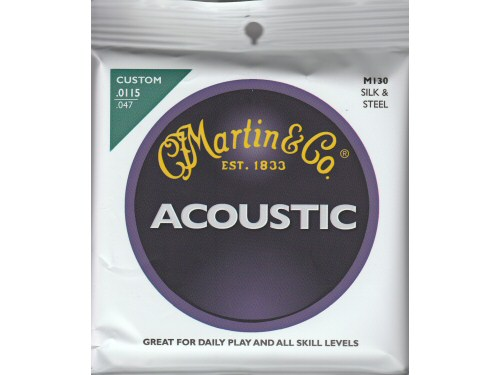 Martin M130 Silk and Steel Acoustic Guitar String Set