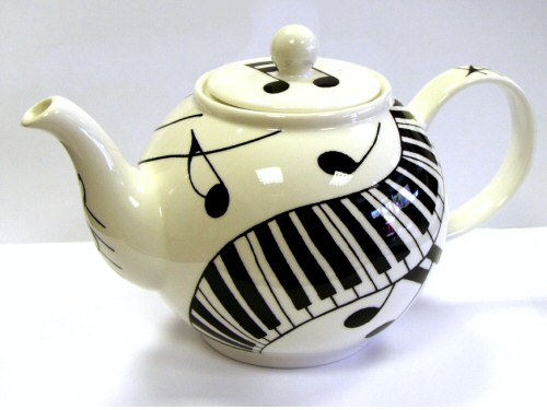 Dunoon Ebony and Ivory Teapot