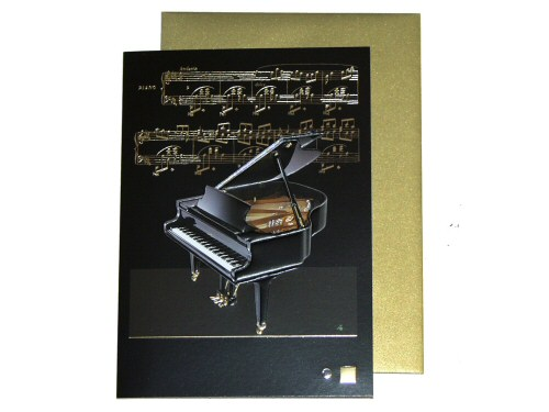Baby Grand Piano Card - 1188Z0