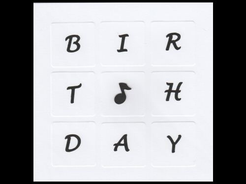 Music Note Birthday Card