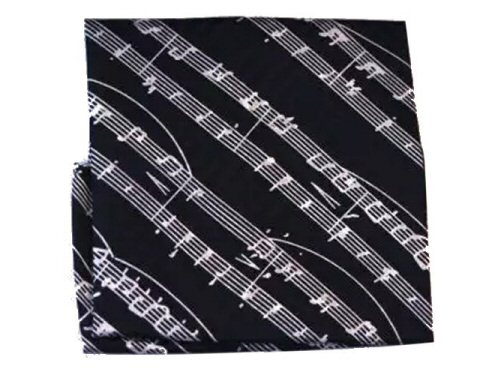 Black Silk Handkerchief Manuscript Design