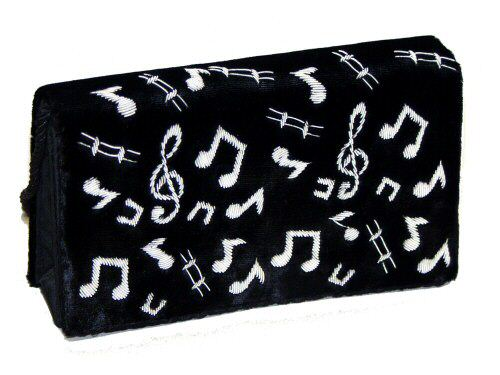 Black Velvet Occasional Bag With Music Notes Large