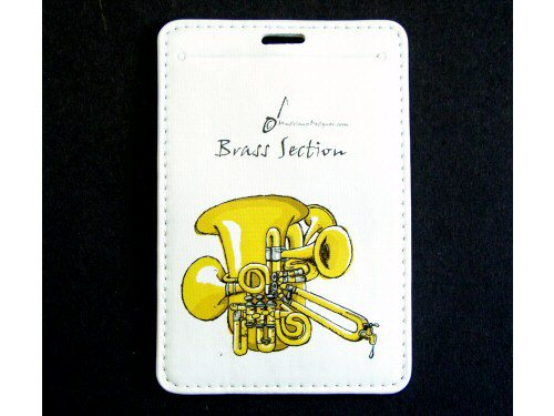 Brass Section Luggage Tag
