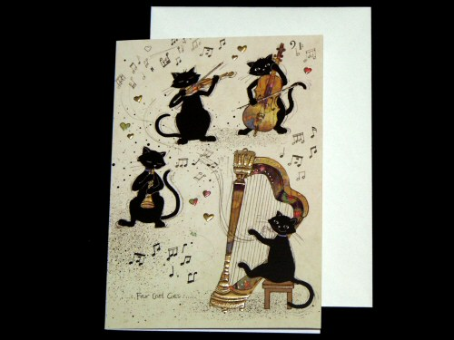 Four Cool Cats Band Card