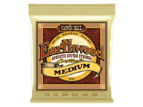 Ernie Ball Earthwood Acoustic Guitar Strings Medium 13-56