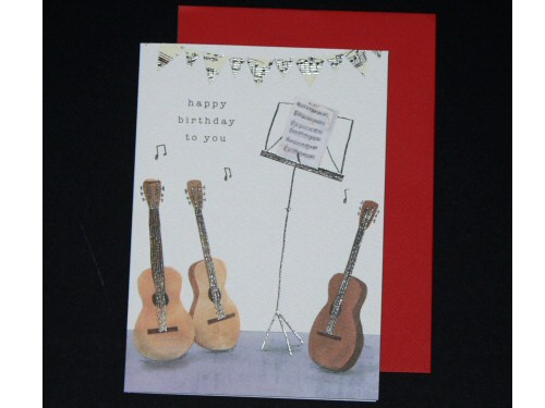 Guitars and Music Stand Birthday Card - 1574Z0