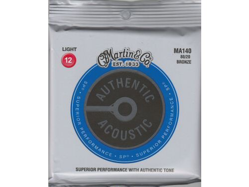 Martin MA140 Bronze Acoustic Guitar Strings Light