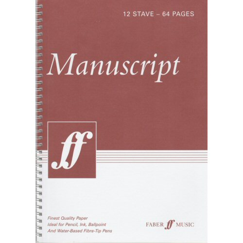 Manuscript Book A4 Wire Bound 64 White Pages