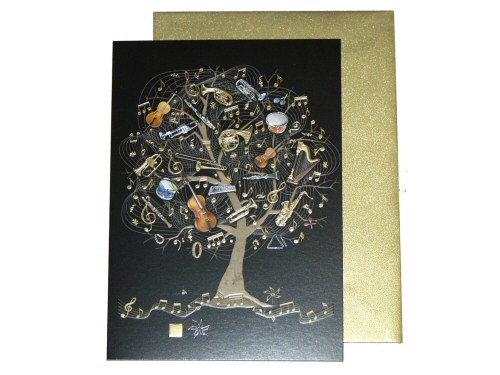 Musical Instruments Tree Card