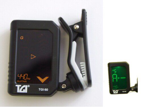 TGI 60 Clip On Guitar and Bass Tuner