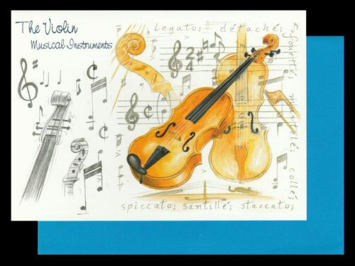 Violin Card Musical Instruments