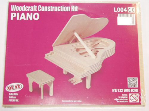 Woodcraft Construction Kit Piano