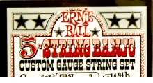 Banjo strings from Ernie Ball.