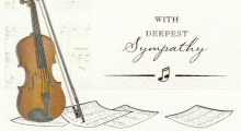 Music Design Sympathy Cards