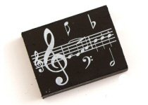 Treble Clef and Music Design Erasers