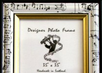 Piano Keyboard and Music Design Photo Frames