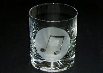 Music Design Glass Tumblers and Wine Glasses