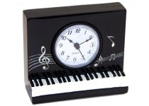 Piano and Music Mantel Shelf Clocks