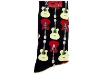 Music Socks With Guitar, Drums and Pianos