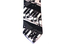 Music Ties, Guitar, Drums and Piano Ties