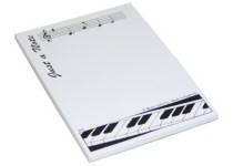 Music Design Notepads and Sticky Notes