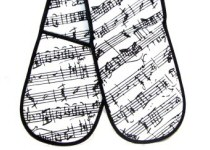 Music Design Oven Gloves