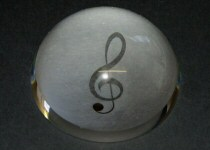 Music Design Glass Paperweights
