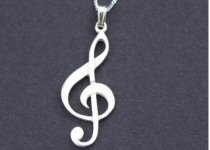 Music and Treble Clef Pendant Necklaces