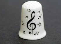 Treble Clef Design China Thimbles