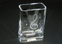 Music Design Etched Glass Vases