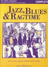 Jazz Blues and Ragtime for Violin and Piano