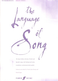 The Language of Song Intermediate High Voice