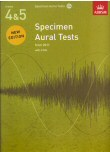 Specimen Aural Tests Grades 4-5 from 2011 with CDs
