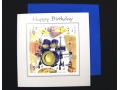 Drums Birthday Card - Instruments Series