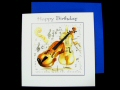 Violin Birthday Card - Instruments Series