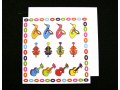 Multi Coloured Sax Violin Guitar Card