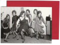 A black and white photo card from 1962 featuring a group of ladies doing the twist.