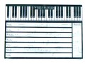 Piano Keyboard Design Weekly Planner