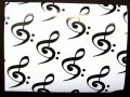Treble Clef and Bass Clef Giftwrap