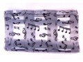 Grey Musical Design Scarf
