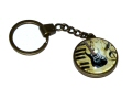Bronze Effect Black Electric Guitar Keyring