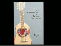Abstract Guitar and Soundhole Card