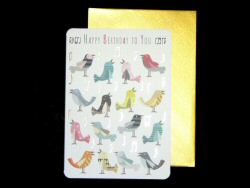 Birds and Music Notes Birthday Card