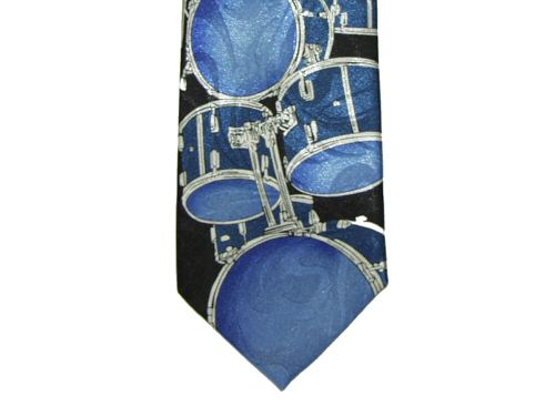 Blue Drum Kit Tie